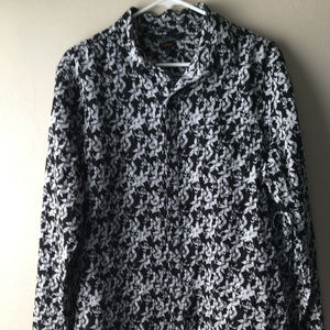 Marc Anthony Floral Print Button Down